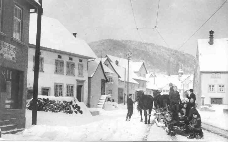 Beringen Hauptstrasse Winter