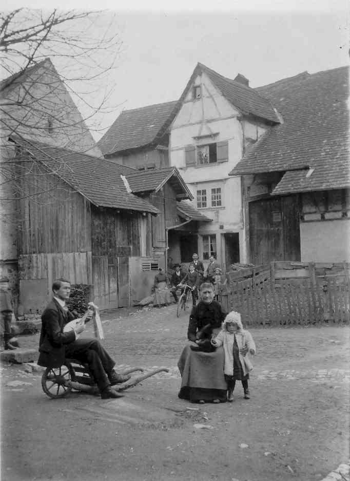 Beringen Schloss 1914 Leute