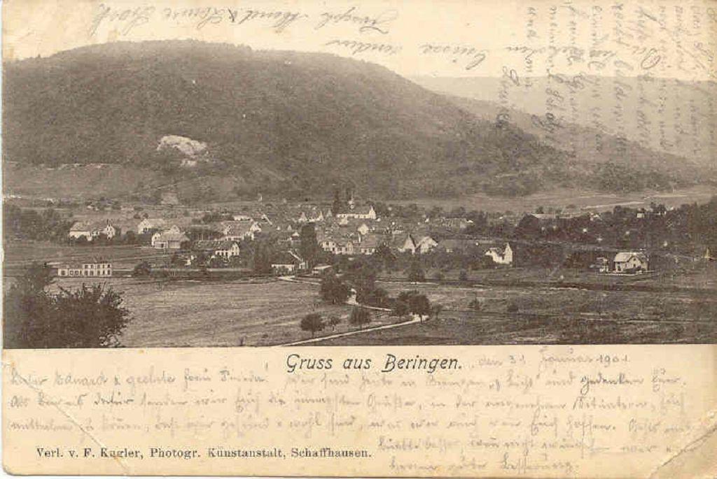 Beringen Ortsbild 1901 02 01