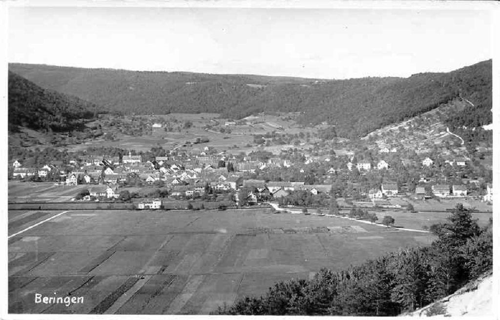 Beringen Ortsbild 1939
