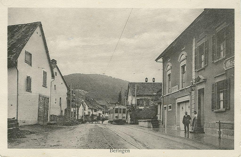 Beringen Sonne Haltestelle 1912