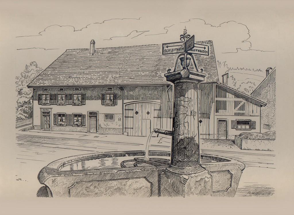 Adlerbrunnen Haus zur Blume